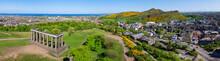 Panorama Von Edinburgh Von Calton Hill Aus