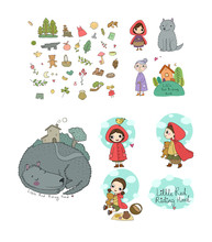 Set With Little Red Riding Hoo...