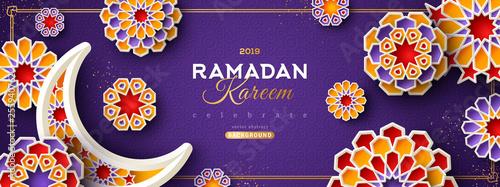 Fotografie, Obraz  Ramadan Kareem Violet Banner