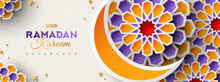 Ramadan Kareem Banner With Moon
