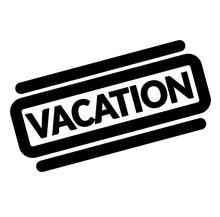 Vacation Black Stamp