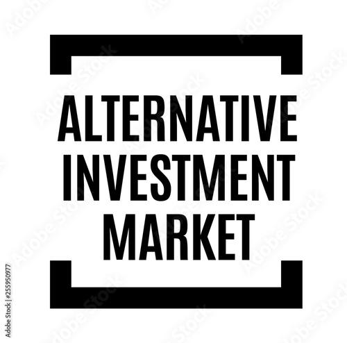 Fotografie, Obraz  alternative investment market black stamp