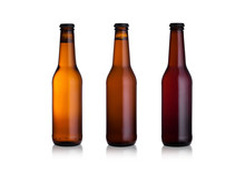 Brown Glass Beer Bottles With ...