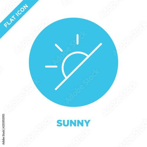 Fotografiet  sunny icon vector from weather collection
