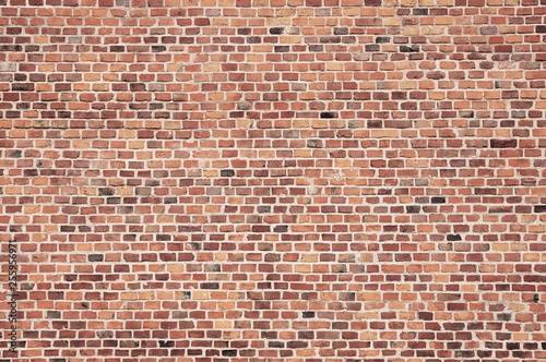 Garden Poster Brick wall old red brick wall texture