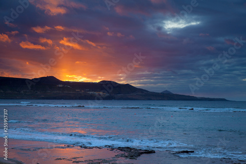 Sunset over las Canteras