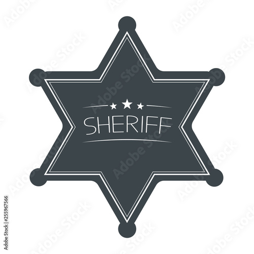 Sheriffs Star Isolated on White Background. Vector Illustration. Canvas-taulu