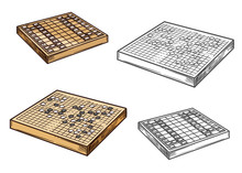Go And Shogi Japanese Board Ga...