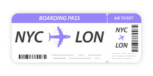 Airline Boarding Pass Ticket. ...