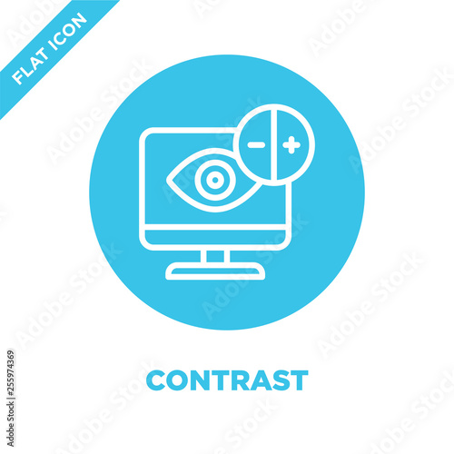 Fotografía  contrast icon vector from accessibility collection
