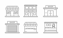 Set Of Store Icon Line Design....