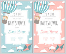 Set Of Baby Shower Invitation ...