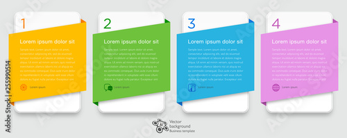 Photo  Infographics Web Banner & Label Design