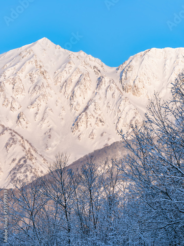 Prefektura Nagano Hakuba Village Snow Mountain Snow Scene