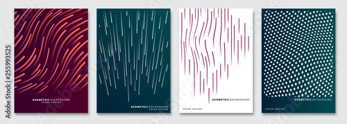 Fototapeta Cover templates set, vector geometric abstract background
