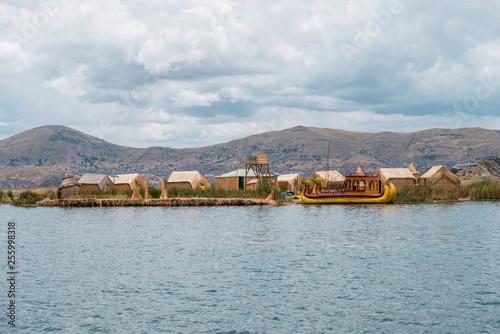 Fotografia  floating Uros Islands