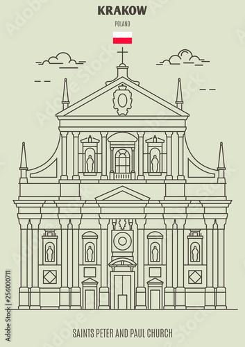 Fototapeta Saints Peter and Paul Church in Krakow, Poland. Landmark icon obraz