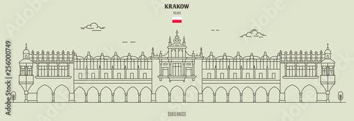 Fototapeta Sukiennice in Krakow, Poland. Landmark icon obraz