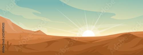 Canvas Desert landscape background