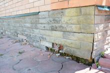 House Foundation Wall Damage Repair. Repair House Damaged Foundation, Foundation Cracks.