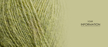 Green Wool Thread Macro Textur...