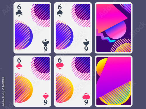 Photo  Playing cards in modern style