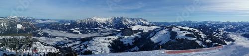 Poster Reflexion Skiwelt skiregion in Austria
