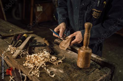 szczegóły rzemiosła drewna