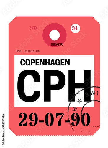 Photo Copenhagen airport luggage tag