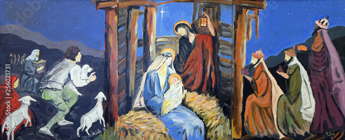 Fototapeta Nativity Scene, birth of Jesus