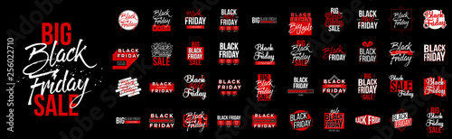 Fototapeta Abstract vector black friday sale lable tag set. For art template design, list, page, mockup brochure style, banner, idea, cover, booklet, print, flyer, book, blank, card, ad, sign, poster, badge obraz