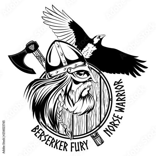 Photo  Norse warrior Berserker