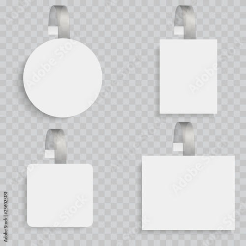 White blank wobblers  3d sale discount plastic tags vector