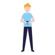 man with smartphone avatar character