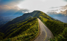 Birds Eye Photography Of Road On Mountain