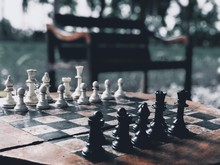 Black And White Chess Board An...