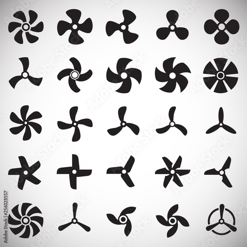 Fotografie, Obraz Propeller icons set on white background for graphic and web design