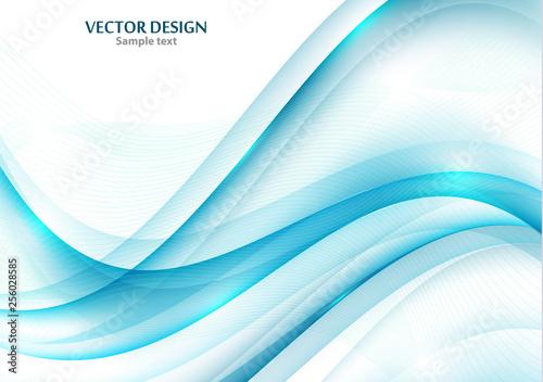 Fotografie, Obraz  Wavy stripes Trendy curve line background