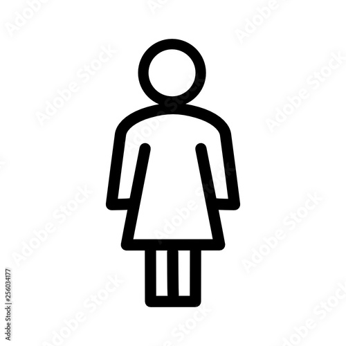 sylwetka kobiety ikona - fototapety na wymiar