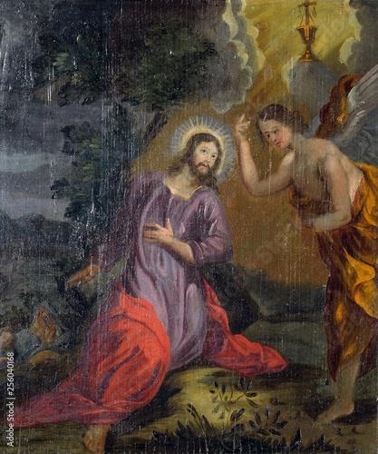 Agony in the Garden, Jesus in the Garden of Gethsemane, altarpiece in the Church Canvas Print