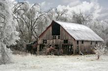 Rustic Weathered Barn Farm Ice...