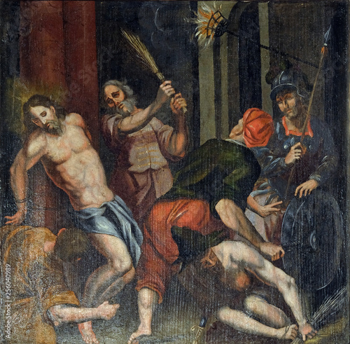 Photo Flagellation of Christ, altarpiece in the Church of the Saint Barbara in Velika