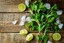 Mojito Coctail Ingredients Wit...