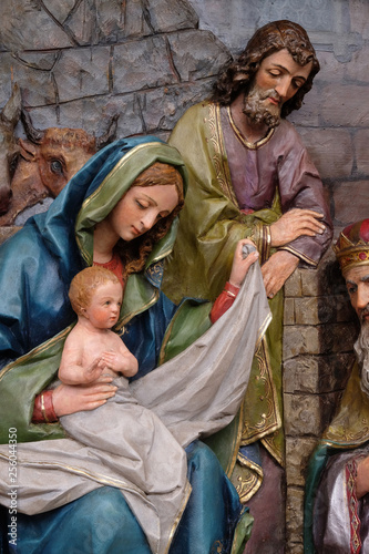 Canvas-taulu Nativity Scene, altarpiece in the church of Saint Matthew in Stitar, Croatia