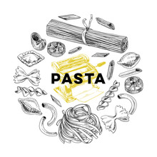 Vector Hand Drawn Pasta Illust...
