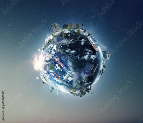 Foto auf Leinwand Nasa Concept of global World naval transport.