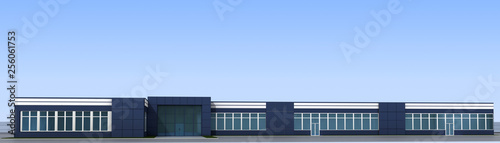 Foto  3d render exterior mall, exterior visualization, 3D illustration