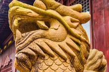 Lion Sculpture, Yuyuan Garden,...
