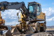 excavator - construction site with heavy machines