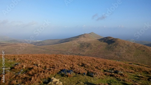 Photo  Looking down towards Ramsey from the top of Snaefell Mountain, Isle of Man